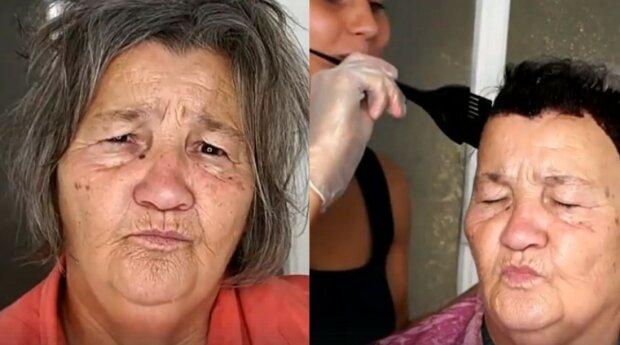 Make-up a nová barva vlasů udělaly babičku hollywoodskou hvězdou
