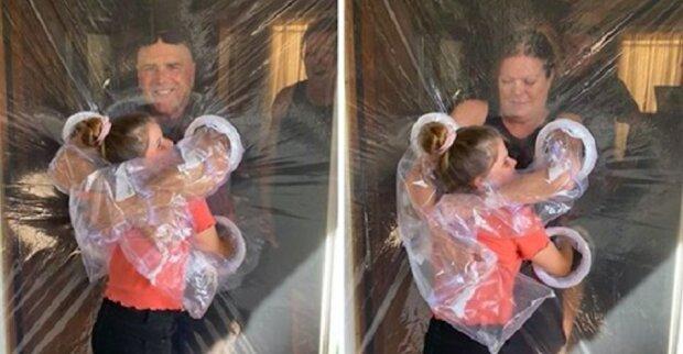 Desetiletá holka natolik se stýskala o své prarodiče, že vymyslela možnost, jak je obejmout a dodržovat zákazy