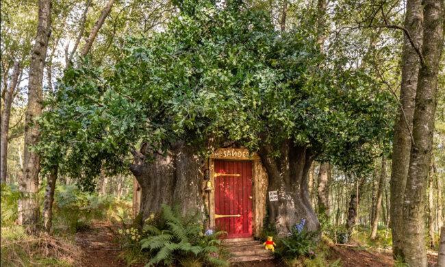 V Británii postavili domek ve stylu Medvídka Pú: Postavil ho malíř, který ilustroval animovaný film