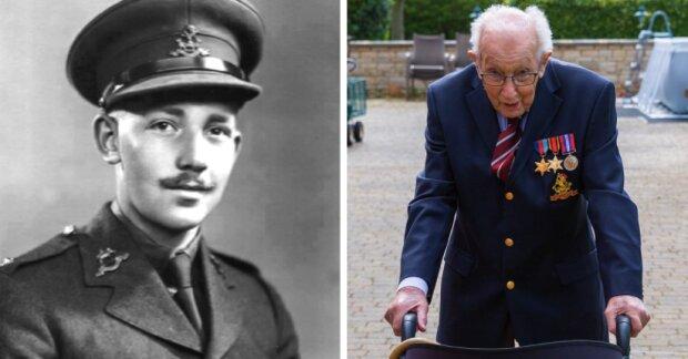 99letý britský veterán nasbíral 12 milionů liber na podporu zdravotnictví a za pár dní se stál národním hrdinou