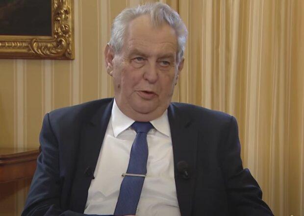 Miloš Zeman. Foto: snímek obrazovky YouTube