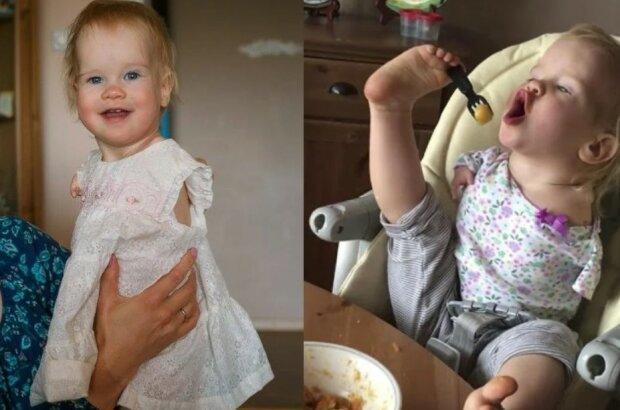 Holčička se narodila bez rukou, ale naučila se jíst a umývat nádobí sama