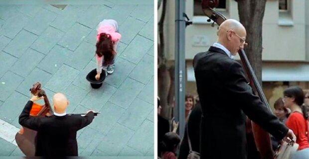 Dívka přistoupila k pouličnímu hudebníkovi: O několik minut později se vedle nich shromáždil dav