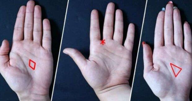 Utajené tvary na našich dlaních:  co o vás prozradí trojúhelník, hvězda nebo kosočtverec