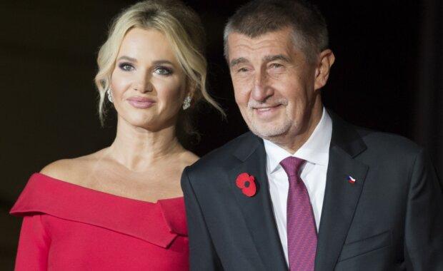Monika Babišová a Andrej Babiš. Foto: snímek obrazovky Seznam