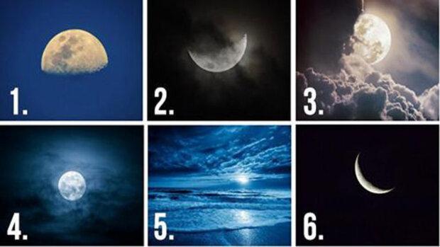 Který měsíc na obrázku vás nejvíce přitahuje: odpověď popíše rysy vaši postavy