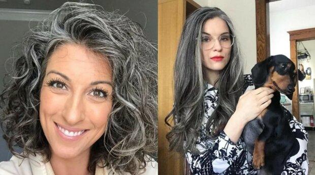 Ženy odmítly obarvit vlasy, protože se jim líbí jejích šedé prameny: dokazují, že šedé vlasy jsou úžasné