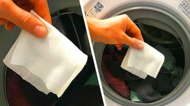 Lifehack s mokrým ubrouskem a pračkou: jak to funguje