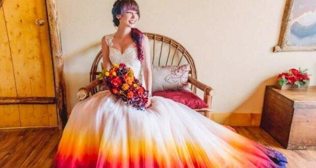 Nevěsta vyzdobila svatební šaty a proměnila je v pohádkové: je to opravdu kouzelné